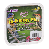 Brown's Garden Chic! Hi-Energy Plus Suet with Mealworms For Wild Birds