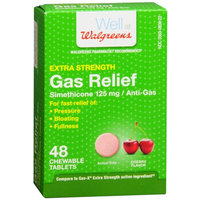 Walgreens Extra Strength Gas Relief Chewable, Cherry, 48 ea