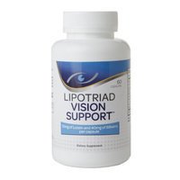 Lipotriad Vision Support Eye Vitamin & Mineral Supplement with Lutein and Bilberry, 60 ea