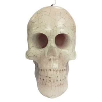 Makebest Large Bleeding Skull Candle - White
