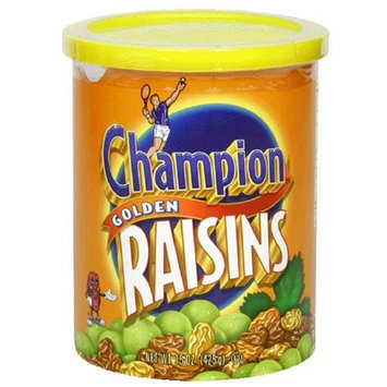 Champion Golden Raisins, 15-Ounce Canisters (Pack of 12)