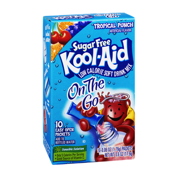 Kool-Aid On The Go Tropical Punch Sugar Free Low Calorie Soft Drink Mix- 10 CT