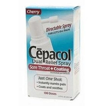 Cepacol Dual Relief Sore Throat & Coating Spray-Cherry-0.75 oz