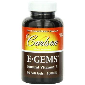 Carlson Labs E-Gems Natural Vitamin E, 1000 IU, 90 Softgels