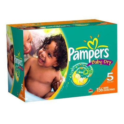 Pampers Baby Dry Diapers Economy Plus Pack, Size 5, 156 Count