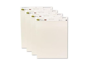 Post-it® Self Stick Plain White Easel Pads, 30 25x30 Sheets/Pad