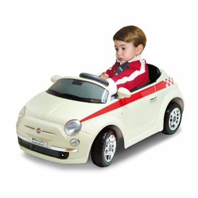 Jamn Products Macdue Fiat 500 Ride On White Ages 3+