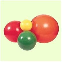Fabrication Cando Inflatable 47-inch Orange Exercise Sensi-Ball