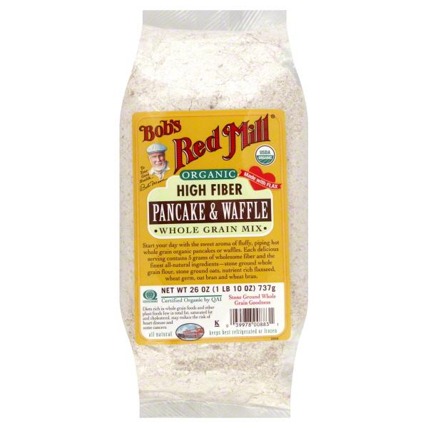 Bob's Red Mill Organic High Fiber Pancake & Waffle Mix Whole Grain Mix