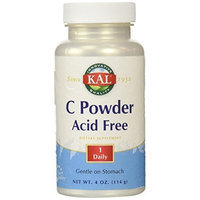 KAL Vitamin C Powder Acid-Free Unflavored Tablets, 4200 mg, 4 Ounce