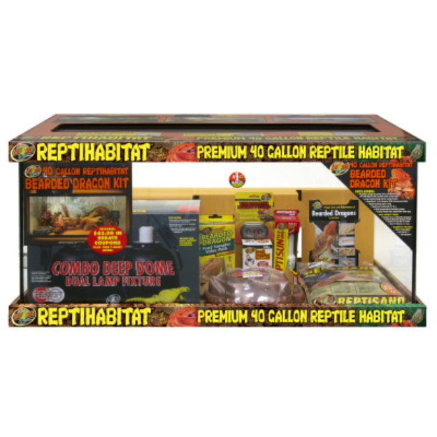 Zoo Med ZOO MEDTM Reptihabitat Bearded Dragon 40 Gallon Terrarium Kit