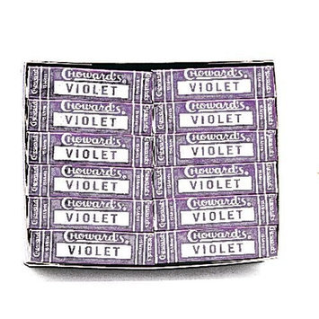 C Howard C. Howard Violet Candies, 0.88-Ounce Boxes (Pack of 24)