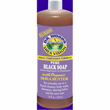 Dr. Woods Shea Vision Pure Black Soap with Organic Shea Butter 8 fl oz