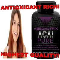 2 Bottles - Absonutrix Acai Pure - 90 Capsules Each - 60 Day Money Back Guarantee!!! Highest Quality Guaranteed - The Swiss Army of Supplements!