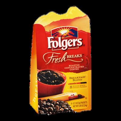 Folgers Fresh Breaks Breakfast Blend Coffee Instant Packets - 8 CT