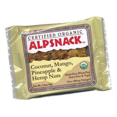 Alpsnack Coconut, Mango, Pineapple & Hemp Nuts, 1.5-Ounce Bars (Pack of 12)