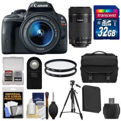Canon EOS Rebel SL1 Digital SLR Camera & EF-S 18-55mm IS with 55-250mm IS STM Lens + 32GB Card + Battery + Case + Filter + Tripod Kit