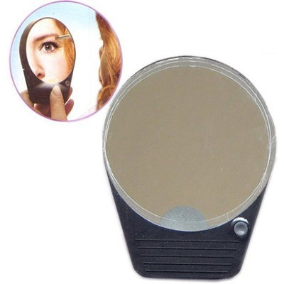 Eamee Compact 5X Magnifying Makeup Mirror with Light and Suction Cups