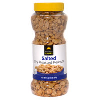 Clover Valley Dry Roasted Salted Peanuts - 16 oz