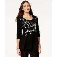Style & Co. Starry Night Embellished Tunic Sweater, Only at Macy's