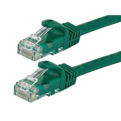 Monoprice 7FT FLEXboot Series 24AWG Cat5e 350MHz UTP Bare Copper Ethernet Network Cable - Green