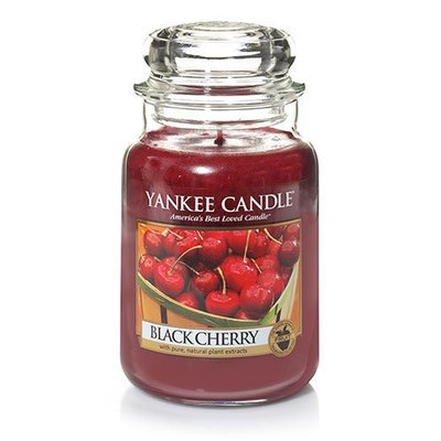 Yankee Candle 22-Ounce Jar Scented Candle, Large, Black Cherry [Large Jar Candle 22-oz]