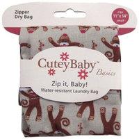 CuteyBaby Zip it Baby Zipper Dry Bag, Sock Monkeys, Small