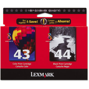 Lexmark 18Y0372 No. 43/44 Twin Pack High Yield Black and Color Ink Cartridge