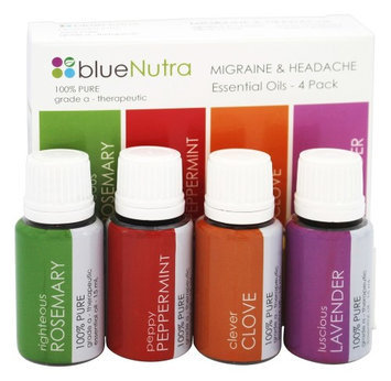 BlueNutra - 100 Pure Essential Oil Migraine & Headache - 4 Pack