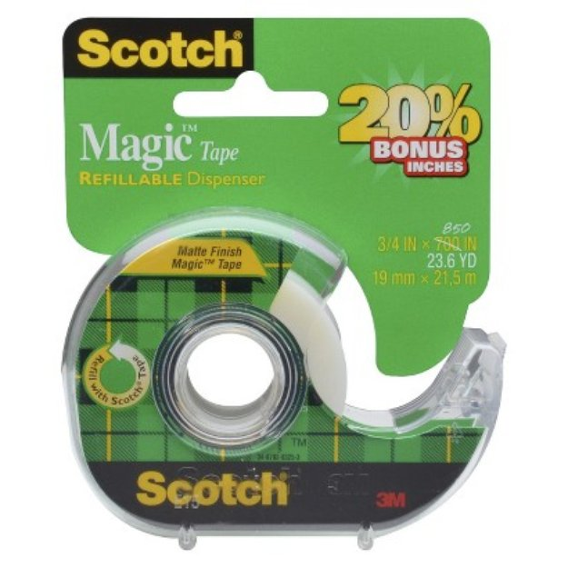 3M Scotch Magic Tape 3/4in x 850in