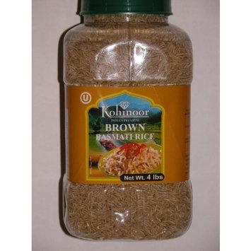 Kohinoor India's Premium Brown Basmati Rice 4 Lb Jar - NET WT 4 lbs