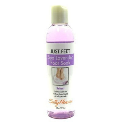 Just Feet Spa Lavender Foot Soak Relax By Sally Hansen 6 Oz/ 117.4ml