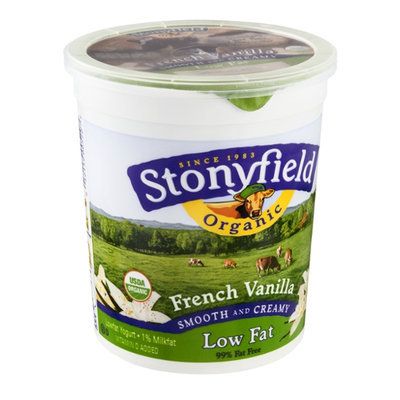 Stonyfield Organic Lowfat Yogurt French Vanilla