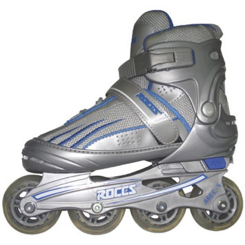 American Athletic Shoe Co Boys' Roces Adjustable Inline Skates - Sliver/ Blue (Small)