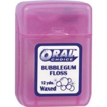 Oral Choice Waxed Bubblegum Ribbon Dental Floss, 12 pcs