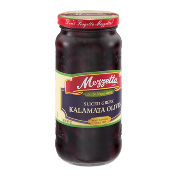 Mezzetta Olives Sliced Greek Kalamata