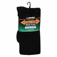 Extra Wide Medical Socks Mens Black