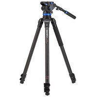 Benro C373F 3-Section Carbon Fiber Video Tripod with S7 Head, 15.4lbs Maximum Capacity, 63.58