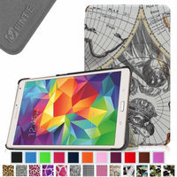 Fintie Ultra Slim Lightweight Stand Case Cove for Samsung Galaxy Tab S 8.4 (8.4-Inch) Tablet, Map Design
