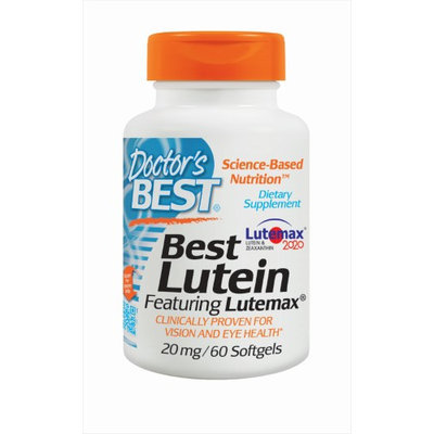 Doctor's Best - Best Lutein Featuring Lutemax 20 mg. - 60 Softgels