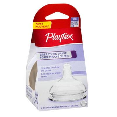 Playtex BreastLike Shape Silicone Nipple, Medium Flow
