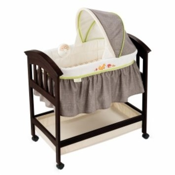 Summer Infant Fox & Friends Classic Comfort Wood Bassinet, Espresso, 1 ea