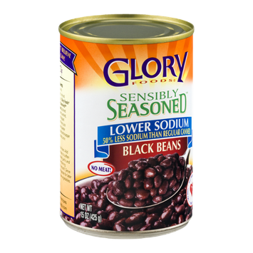 Glory Foods Sensibly Seasoned Black Beans Lower Sodium