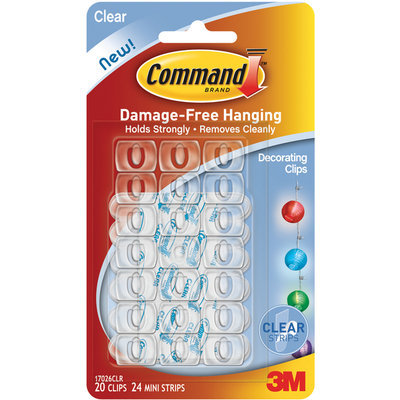 Command Cmd Clear Decorating Clips 17026CLR by 3M