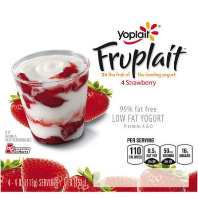 Yoplait® Fruplait™ Strawberry Low Fat Yogurt