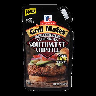 McCormick® Grill Mates® Southwest Chipotle Steakhouse Burgers Sauce Mix-Ins