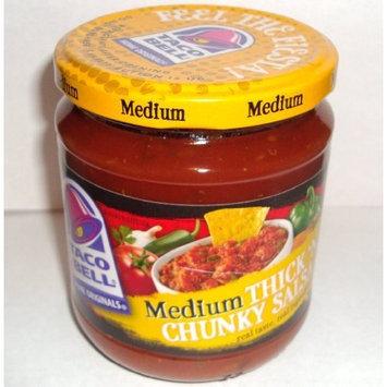 Taco Bell Thick'n Chunky Medium Salsa, 16 oz Jar (Pack of 4)