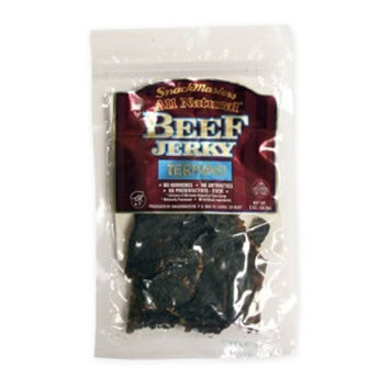 SnackMasters Certified Natural Beef Jerky Teriyaki, 2-Ounce (Pack of 2)