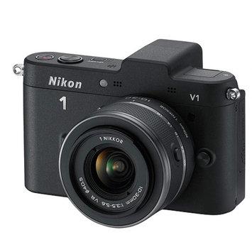 Nikon 1 Black V2 Digital SLR Camera with 14.2 Megapixels and 10mm-30mm Lens Included