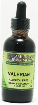 Valerian Alcohol Free No Chinese Ingredients American Supplements 2 oz Liquid